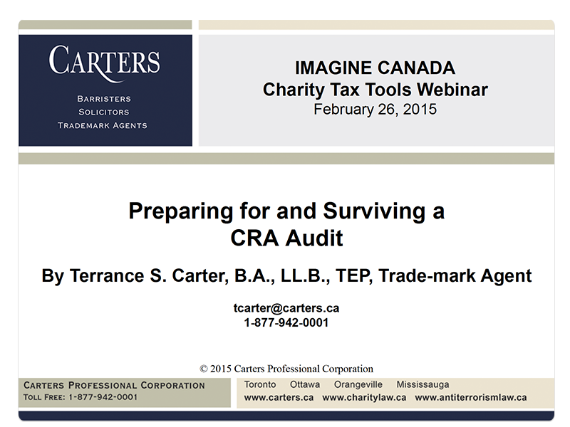 Surviving CRA Audit