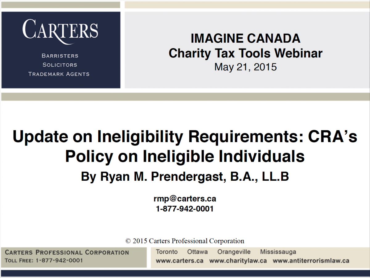 Update on Ineligibility Requirement slide