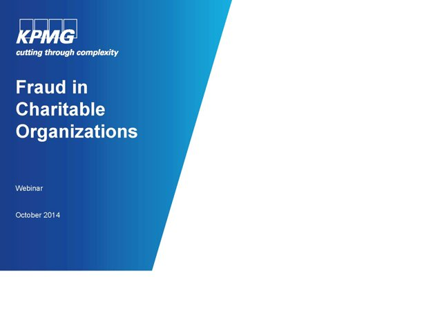 KPMG Webinar - safeguarding against fraud