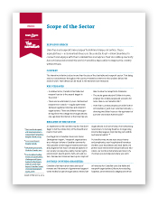 Scope of the Sector